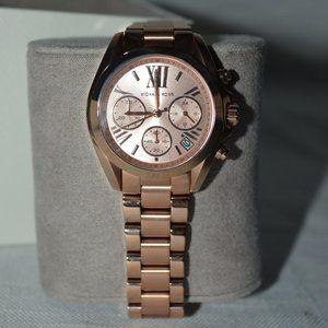 NEW $250 Michael Kors Rose Gold Bradshaw Watch